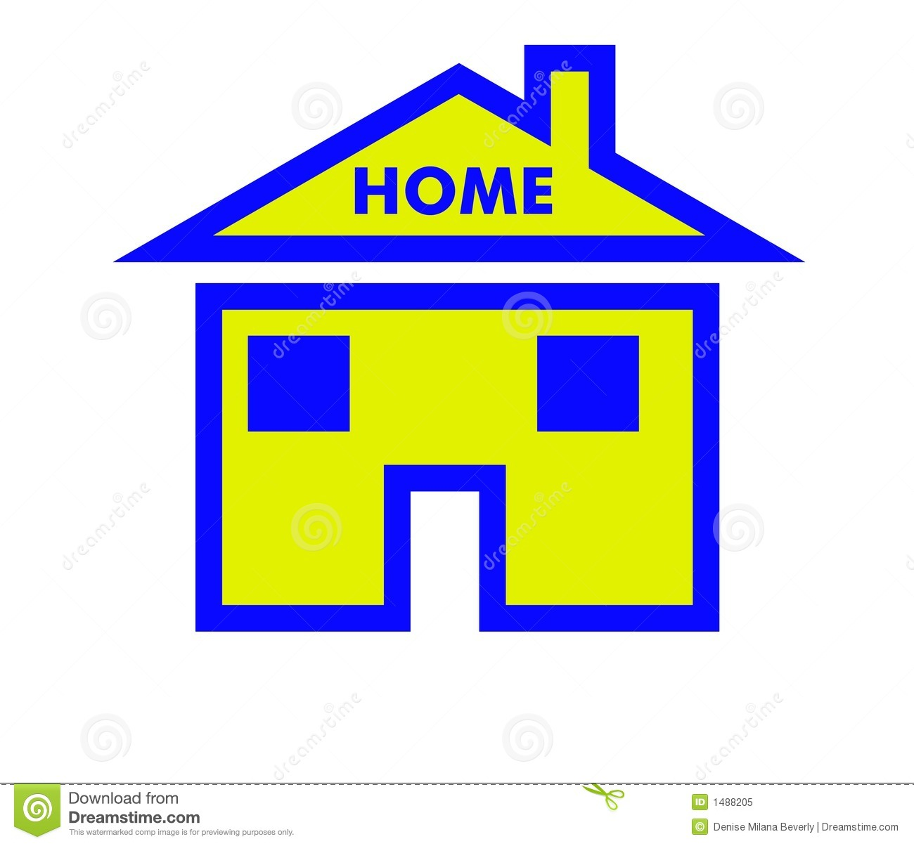 Home symbol for computer program or website royalty free Website home image