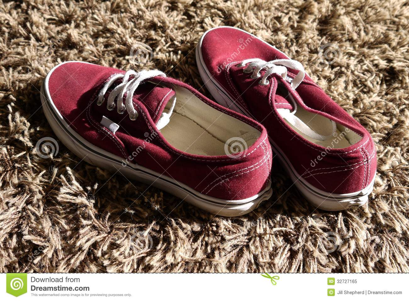 Home Teenage Boy Shoes On Carpet Royalty Free Stock Photo