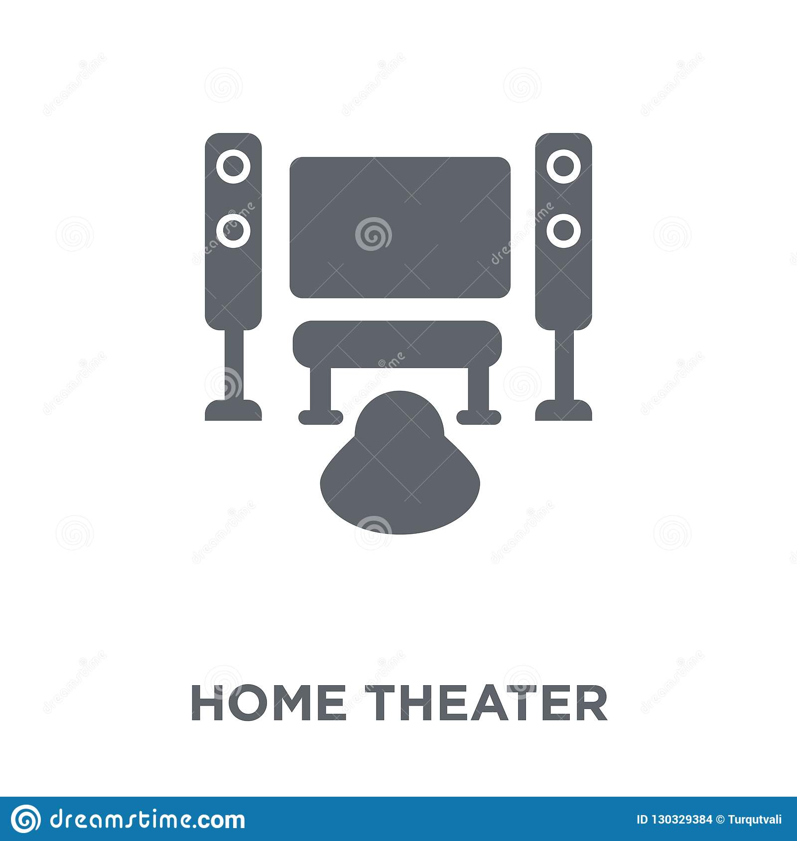 Home Theatre Design Concepts: Home Theater Icon From Entertainment Collection. Stock
