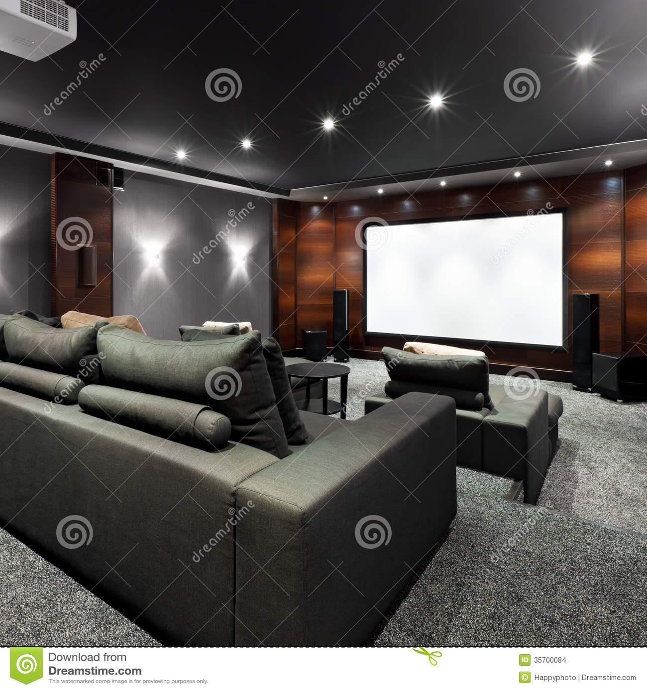Stock Images: Home Theater Interior. Image: 35700084