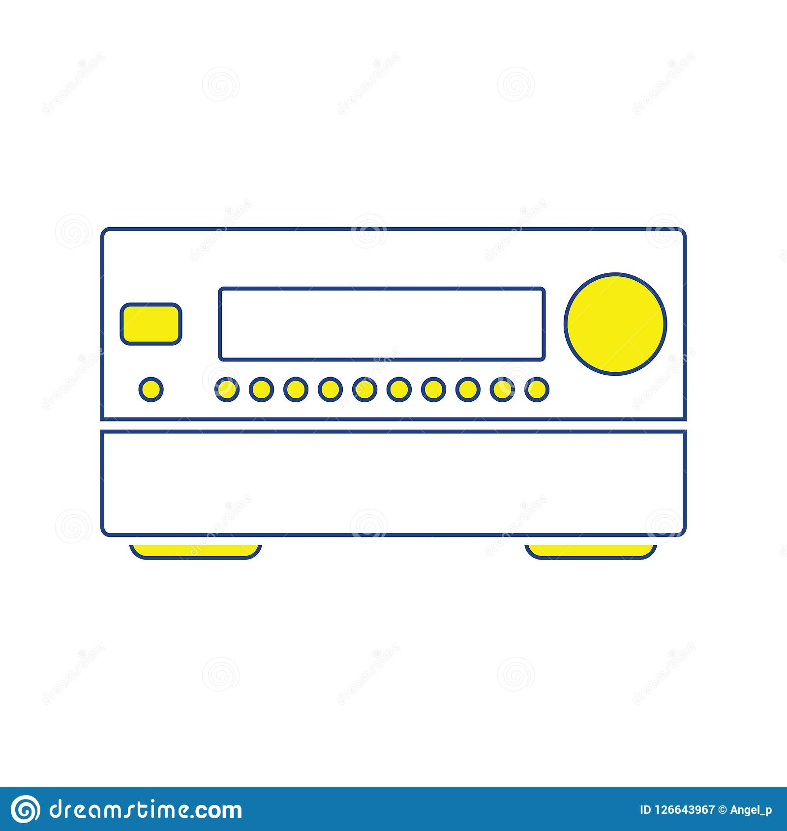 Home theater receiver icon stock vector  Illustration of