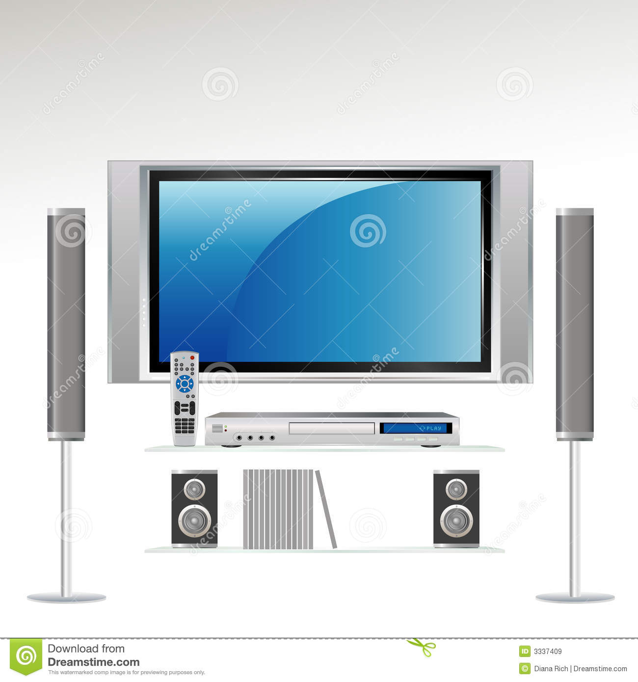 Television and components hookup