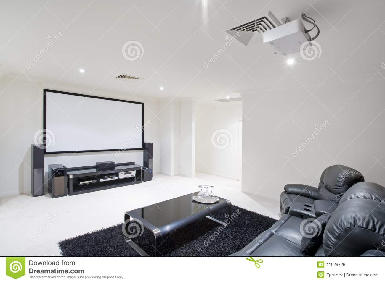 Home Theatre Room stock photo. Image of indoors, minimal - 11929726