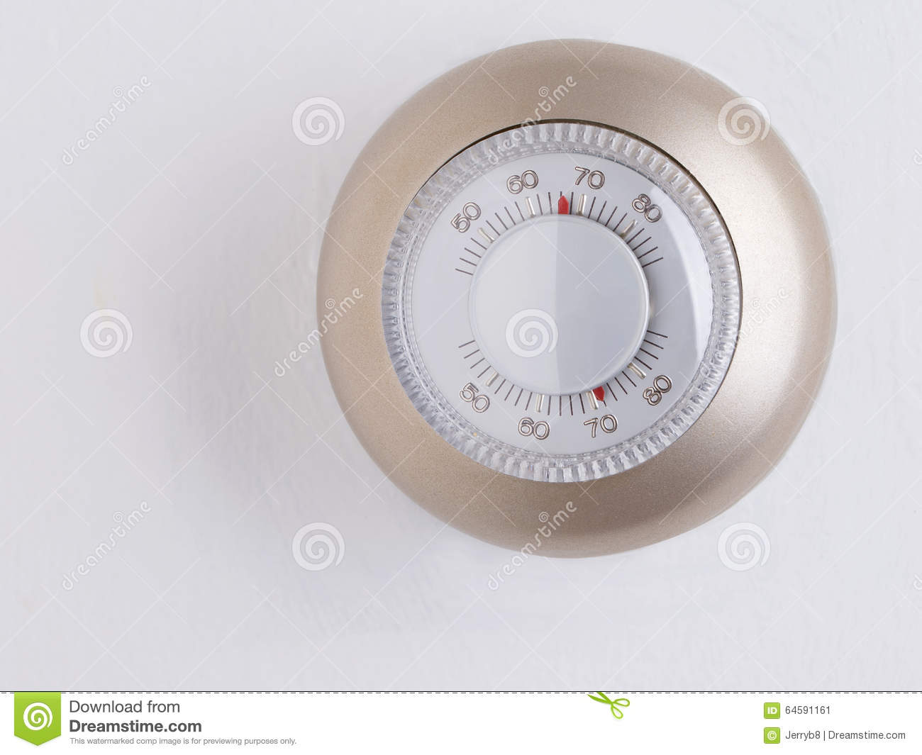 Home thermostat stock photo image 64591161 for Heat setting for home