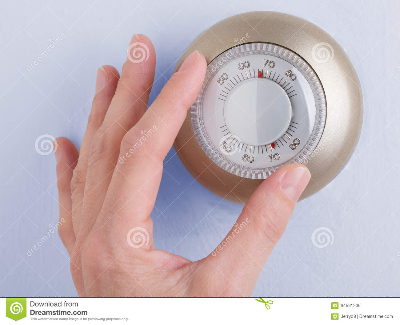 Home Thermostat Stock Photo Image 64591206