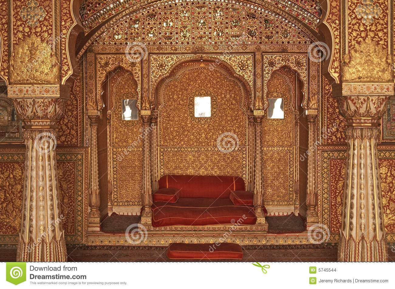 Download Home To A King Stock Photo Image Of Inlaid Asia Indian