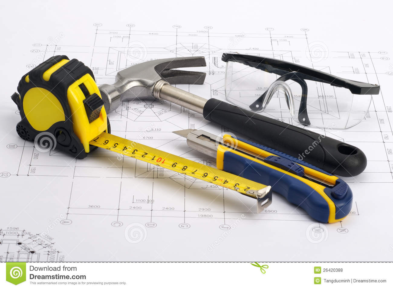 Home tools Construction Concept