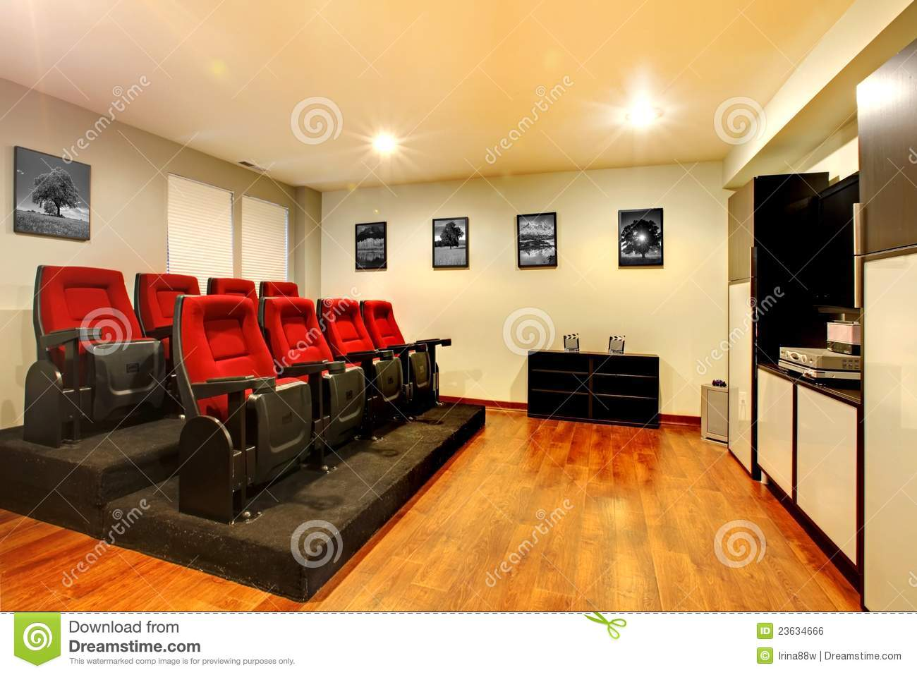 Home tv movie theater entertainment room interior royalty for Entertainment rooms interior designs