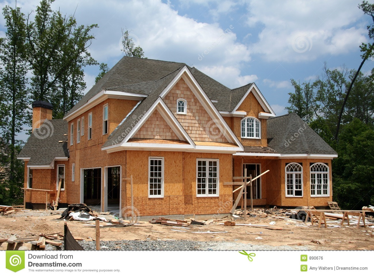 Home Under Construction Royalty Free Stock Image Image