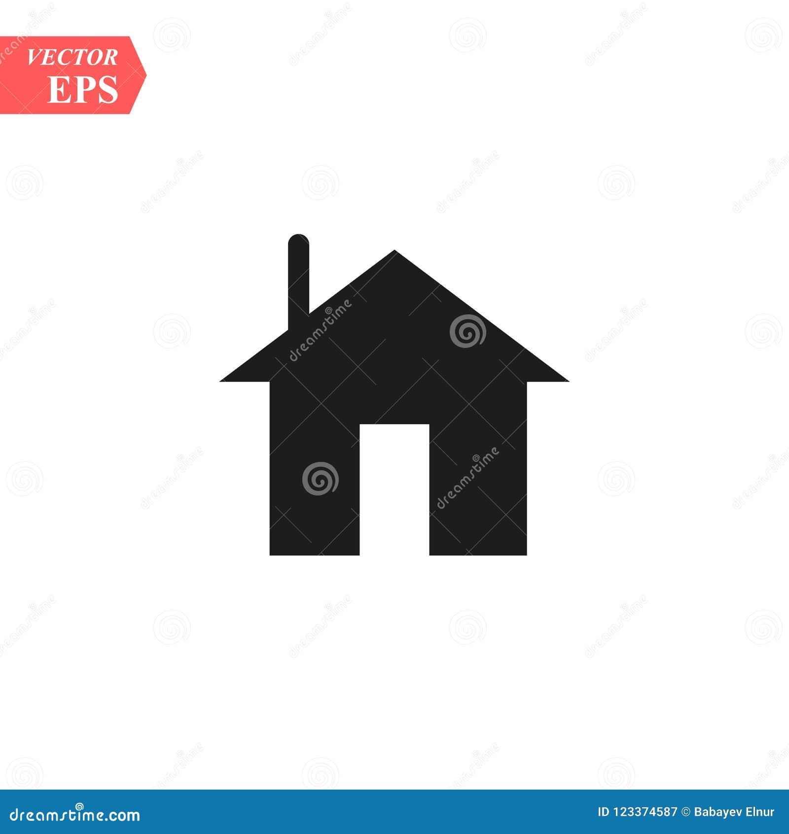 Home Vector Icon House Icon Estate Icon Minimalist Style Stock