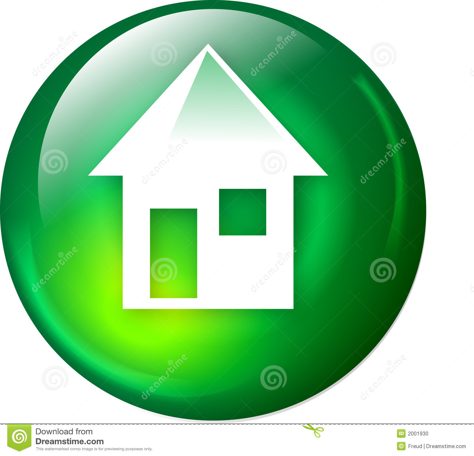 Home Web Button Stock Photo