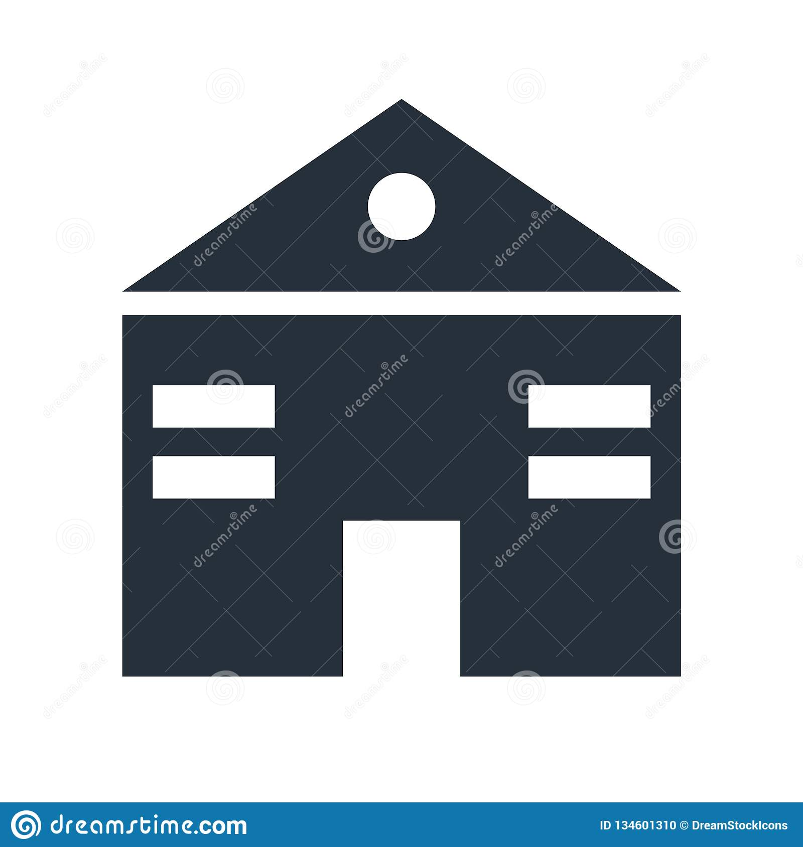 Home Web Page Icon Vector Sign And Symbol Isolated On White Background Home Web Page Logo Concept Stock Vector Illustration Of Window Communication 134601310