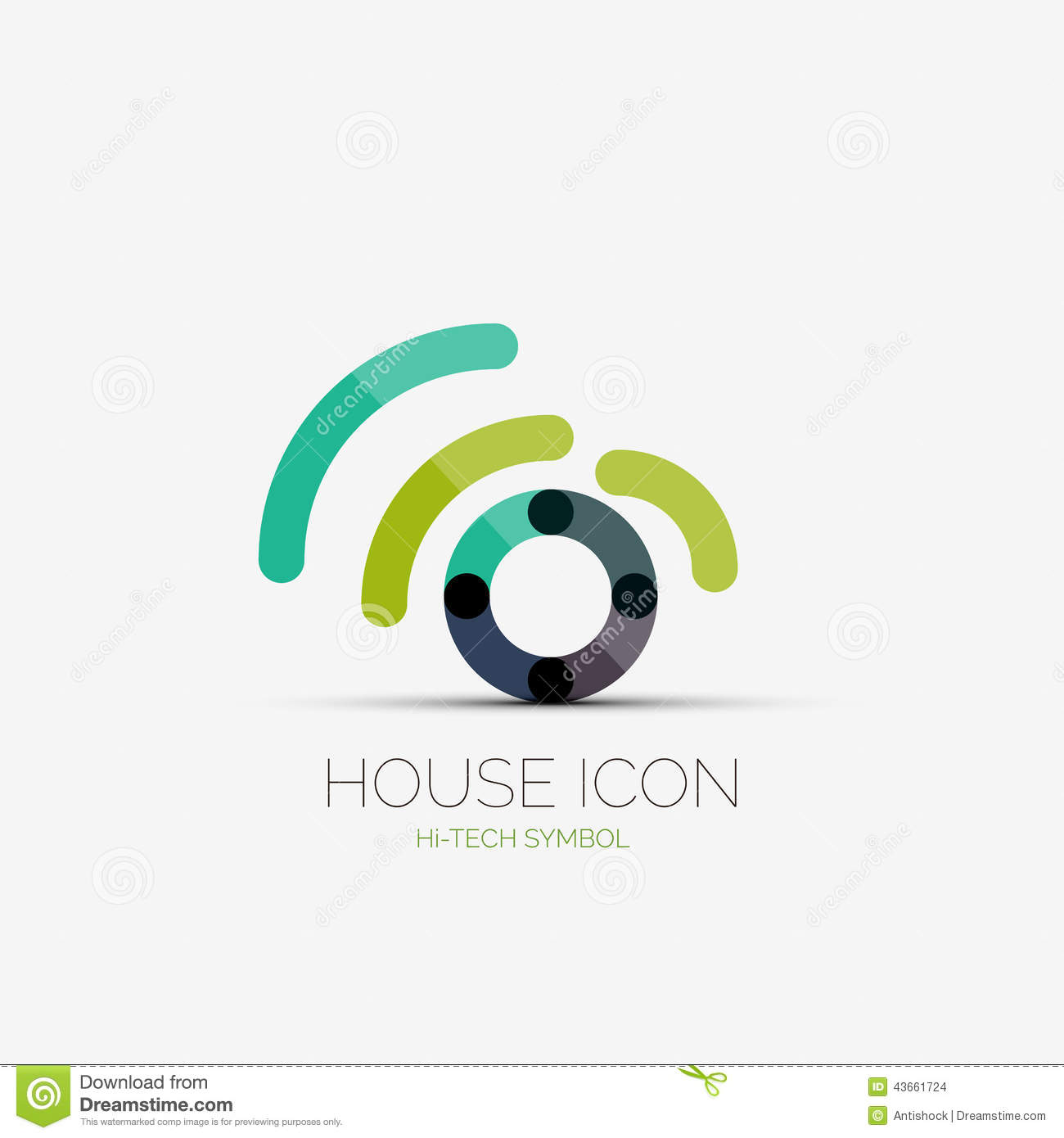 Home wifi company logo business concept stock vector for Home wifi architecture