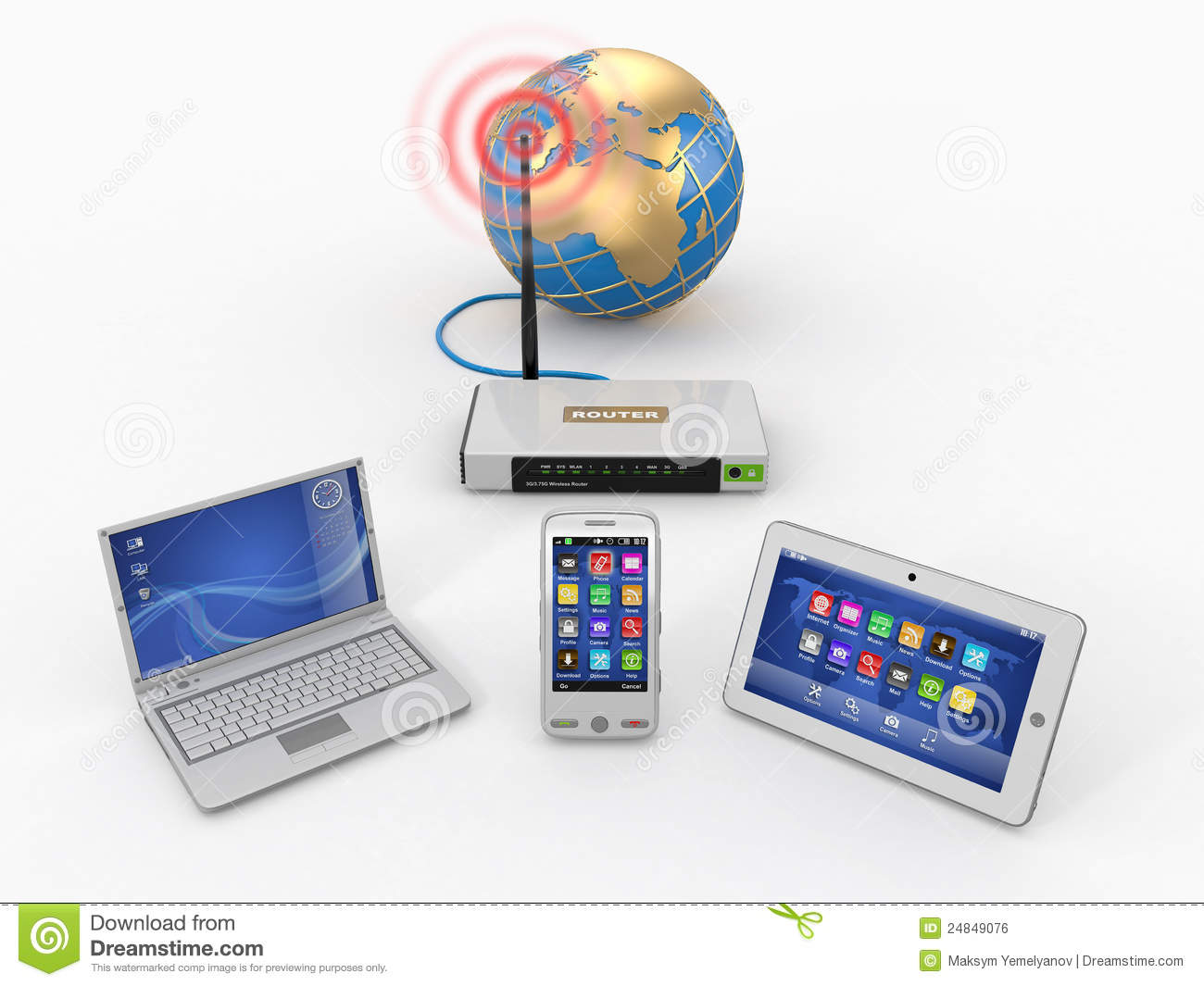 Home Wifi Plans home wifi network. internet via router royalty free stock image