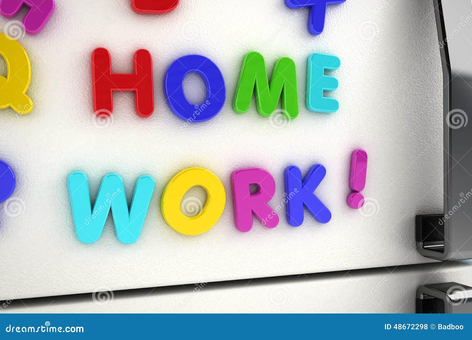 home work fridge magnets stock illustration illustration of