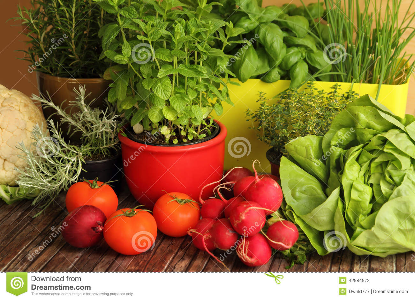 Homegrown χορτάρια και λαχανικά