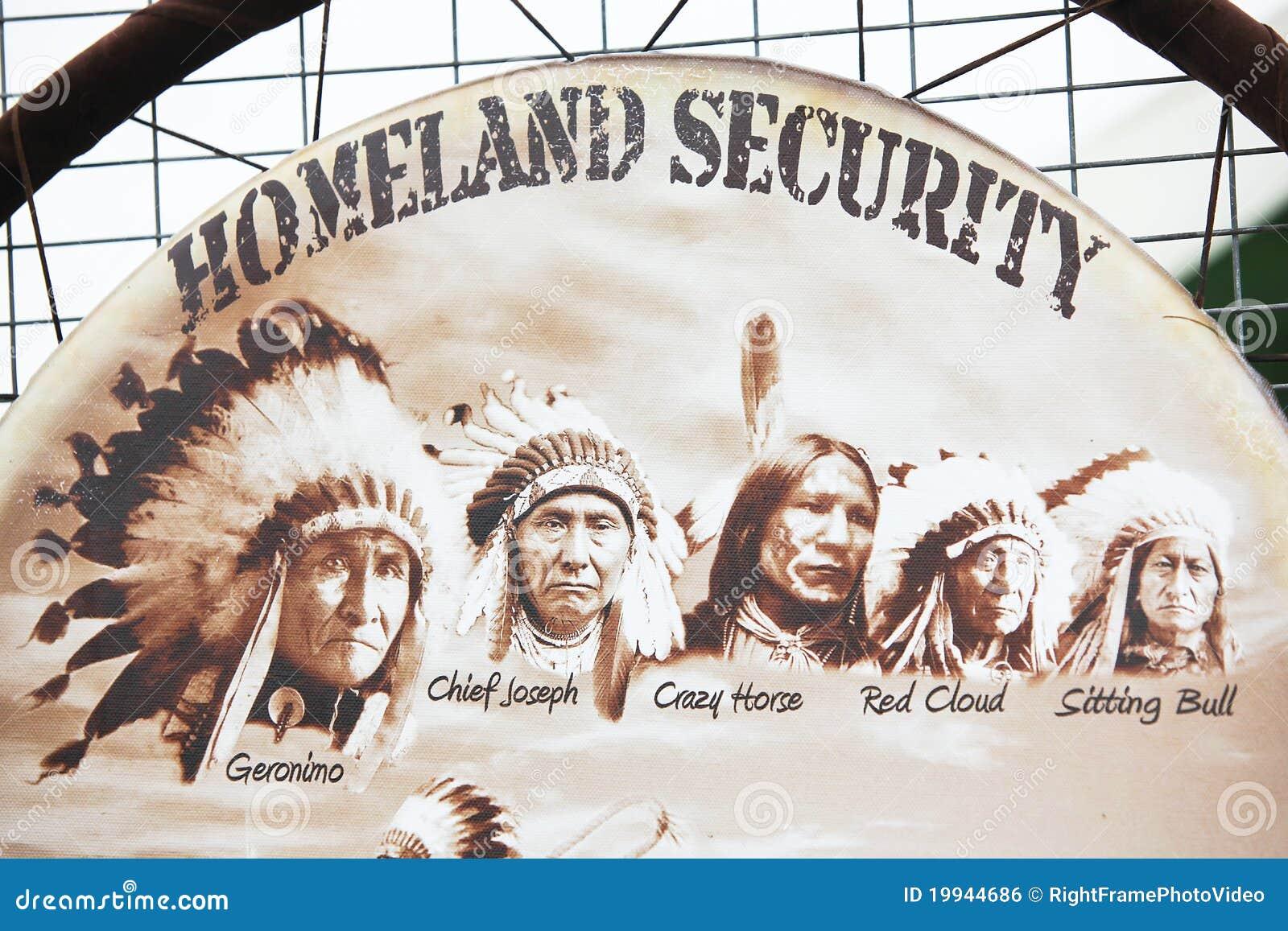 Homeland security geronimo chief joseph crazy horse red cloud