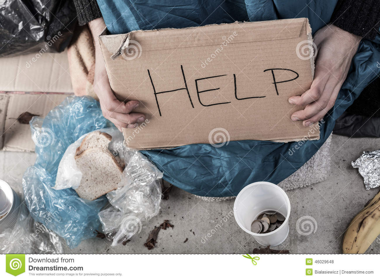 A Homeless Man Asking For Money Stock Photo - Image of