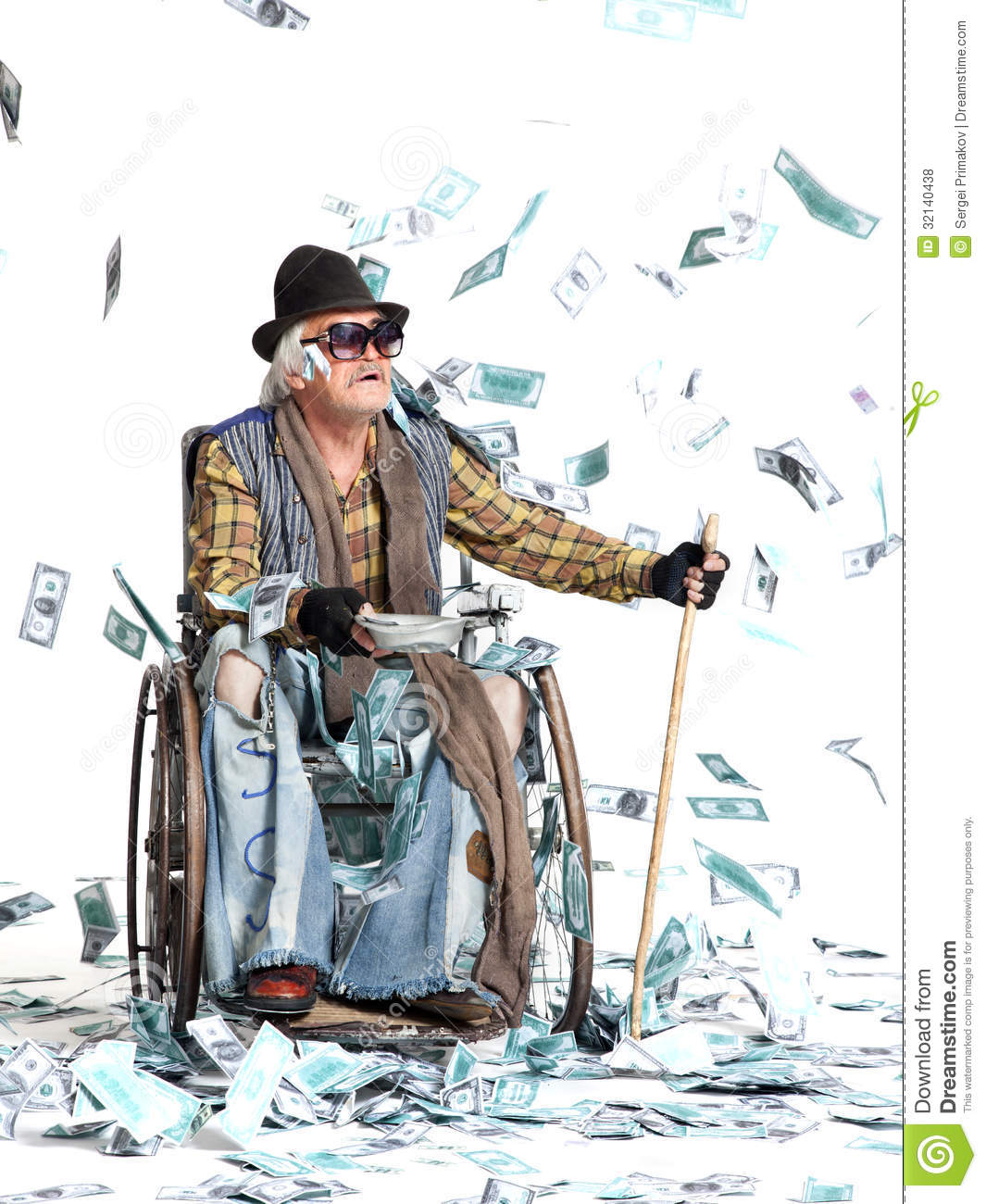 man with a lot of money