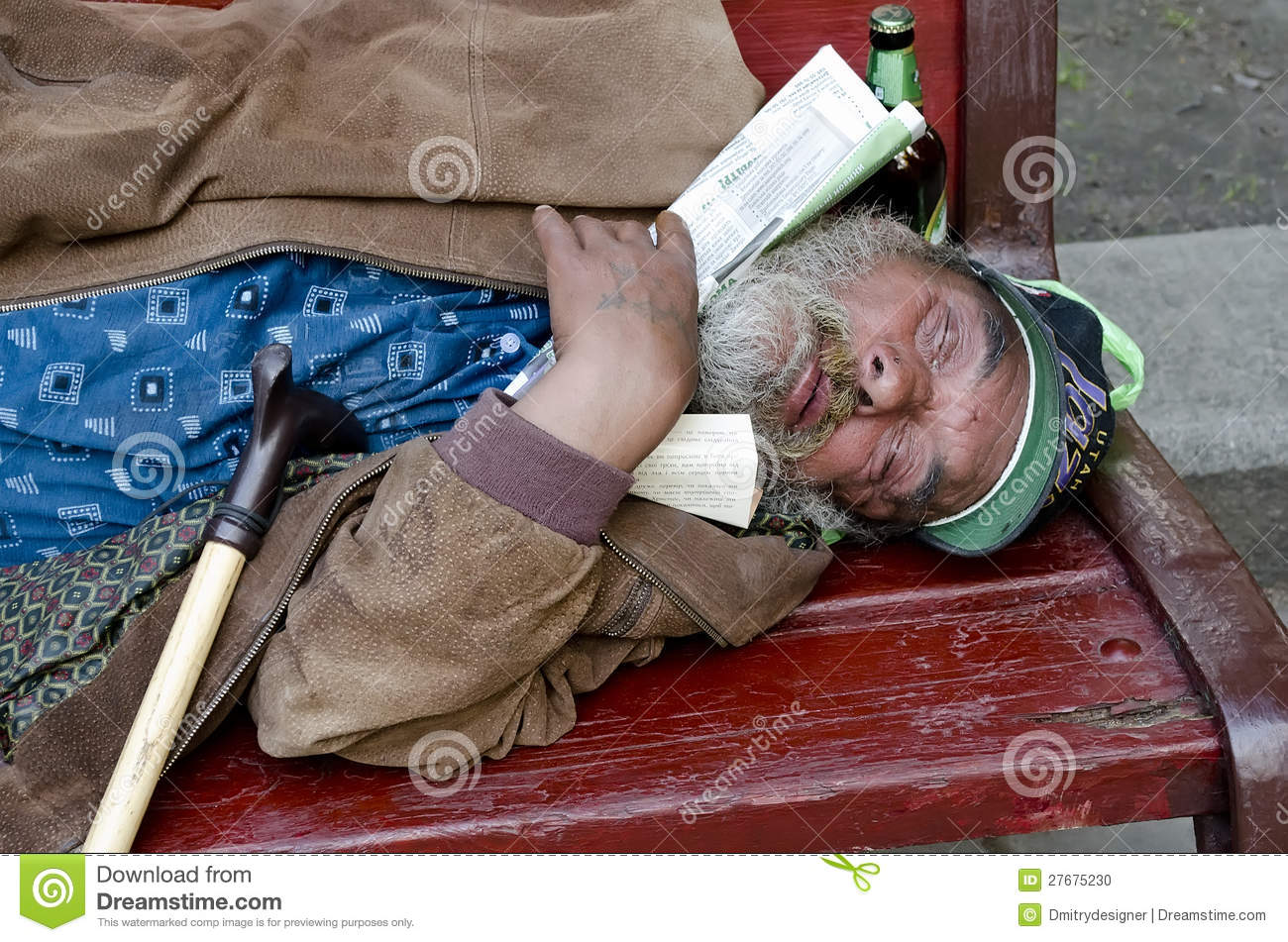 homeless man sleeping on a bench editorial image image