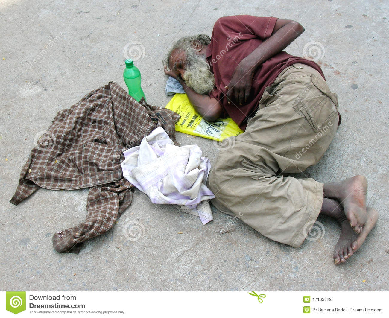 Homeless Person In Philippines Editorial Image