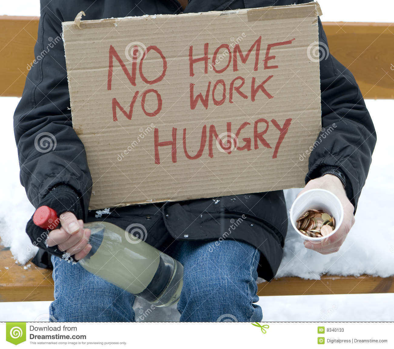 Homeless, Unemployed, Hungry Stock Photos - Image: 8340133
