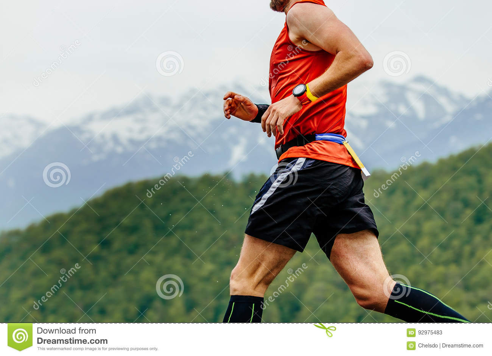 Homem atlético running
