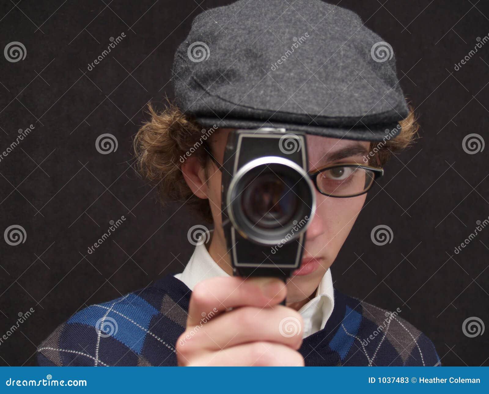 Homem com câmera
