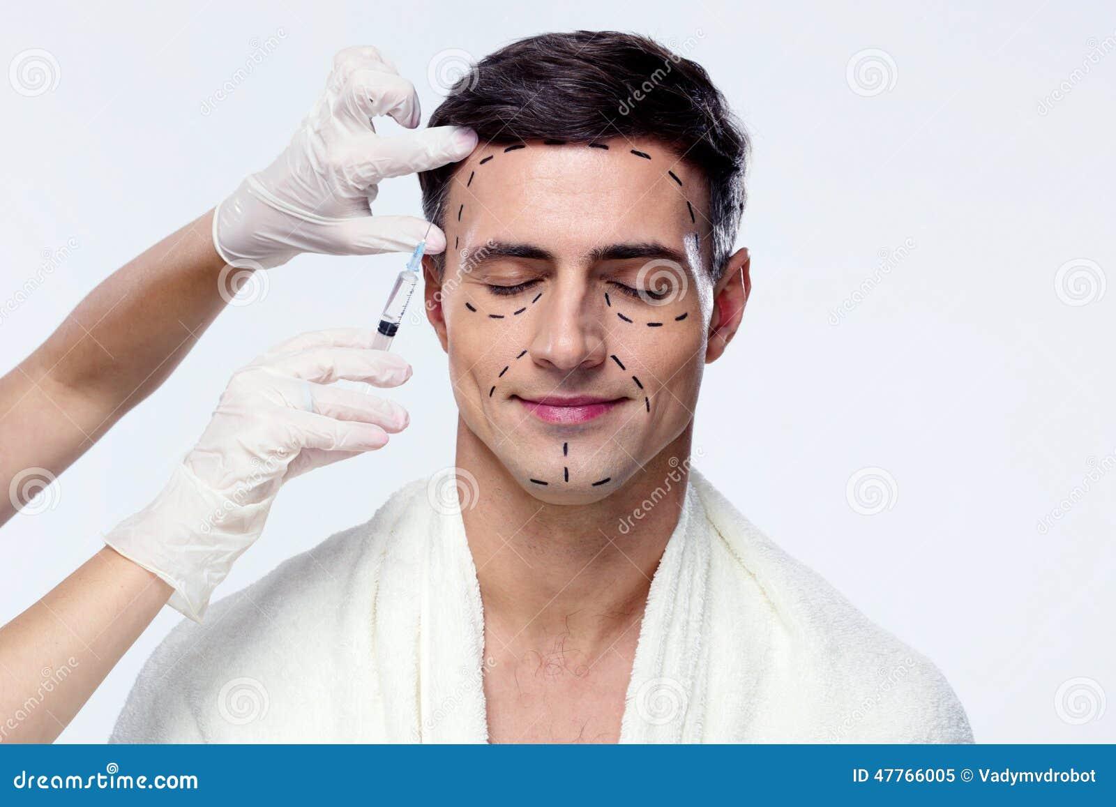 677e8c7babc07 Homem Com Os Olhos Fechados Na Cirurgia Plástica Imagem de Stock ...