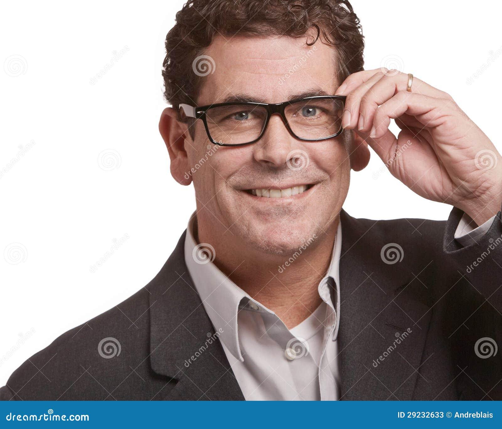 Download Homem com vidros imagem de stock. Imagem de atrativo - 29232633