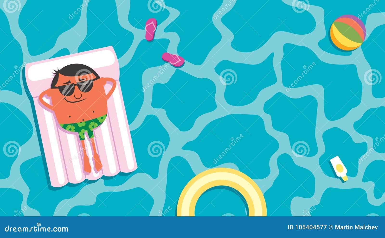 Homem da associação do verão