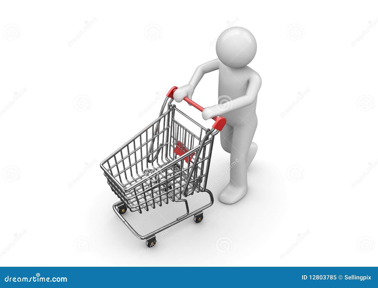 Homem da compra com carro