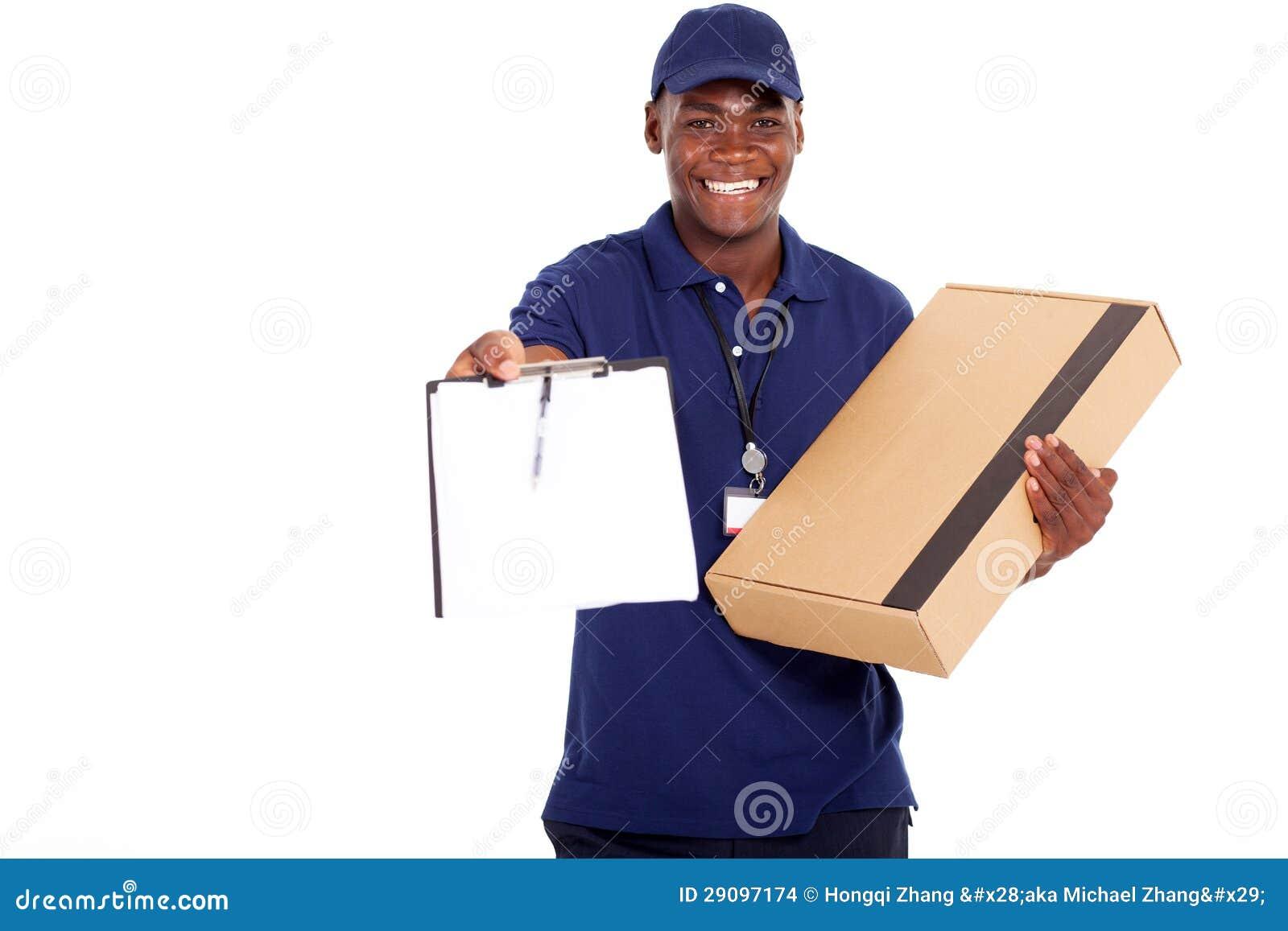 Homem de entrega africano