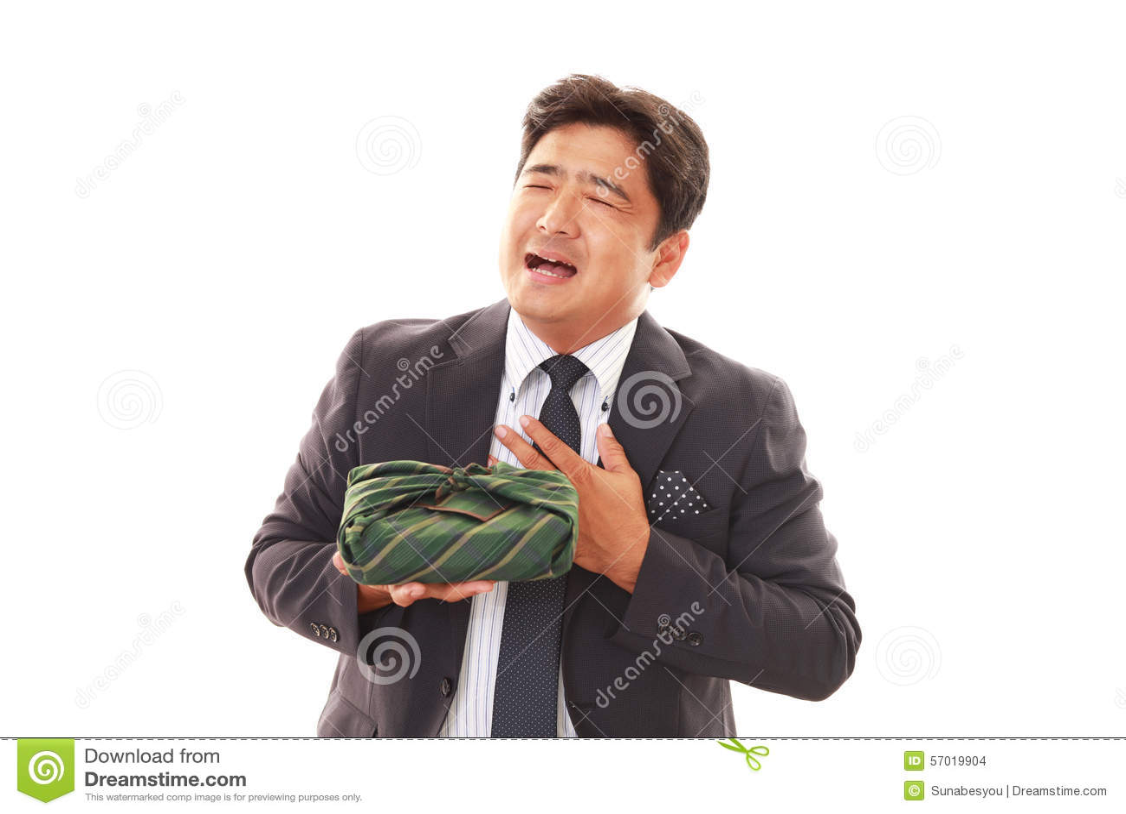 Homem de negócios asiático de sorriso