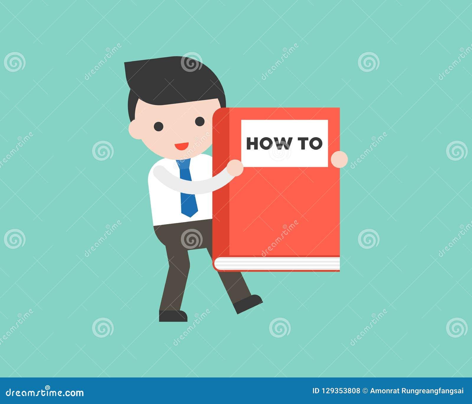 Homem de negócios bonito ou gerente que levam como ao livro grande, apronte a u