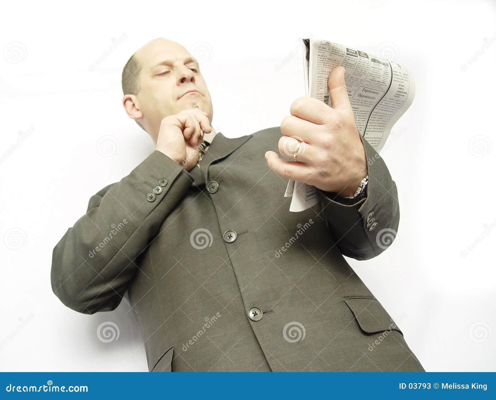 Homem de negócios com papel