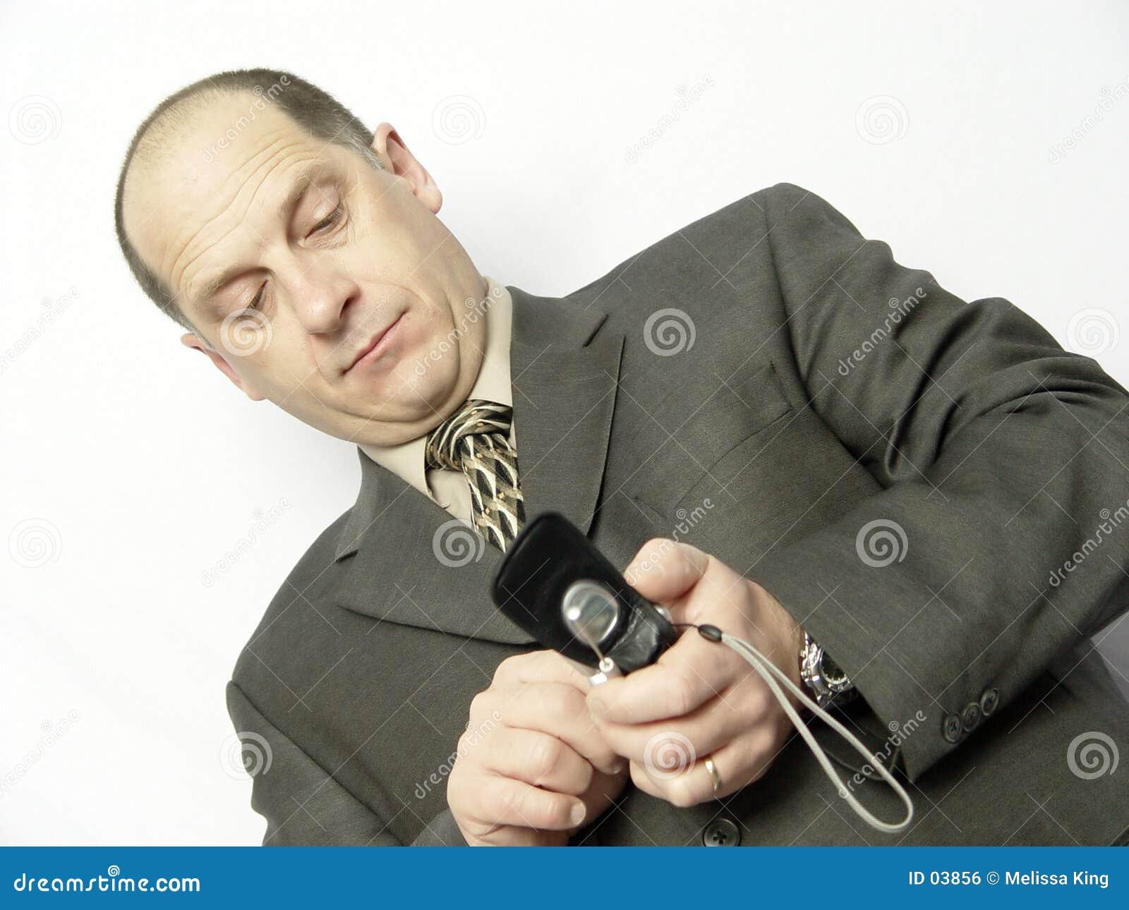 Homem de negócios com telefone