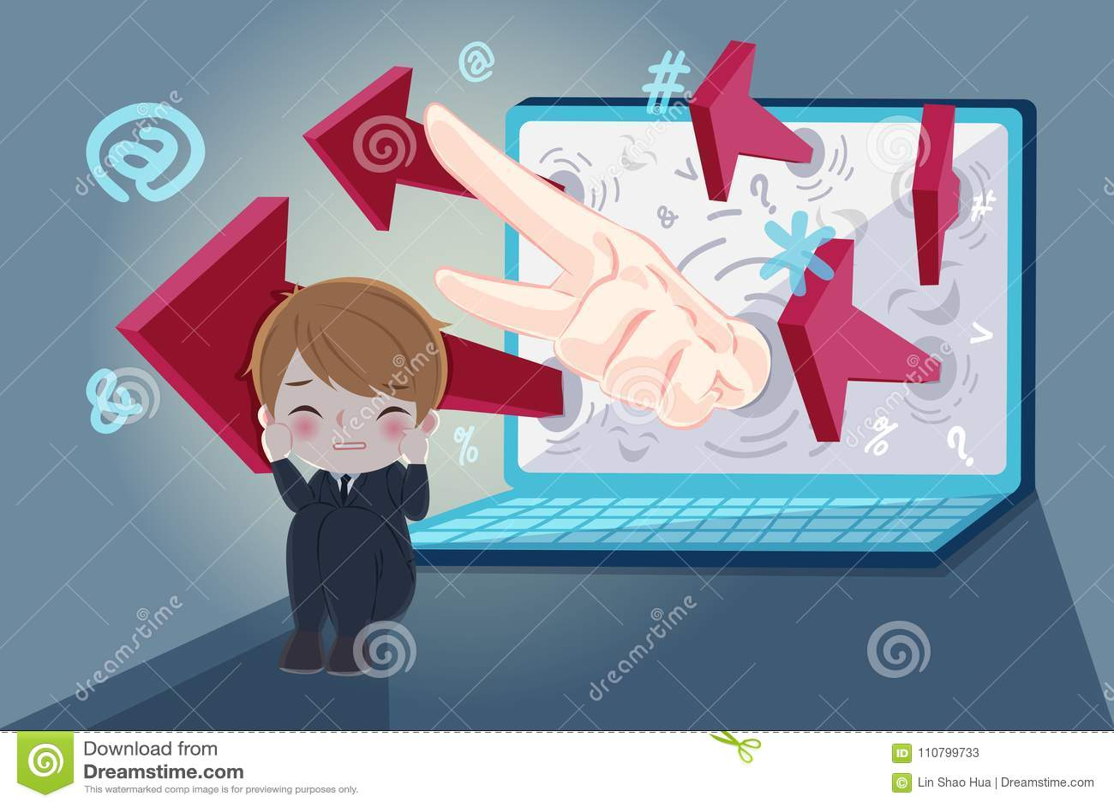 Homem de negócios com tiranizar do cyber