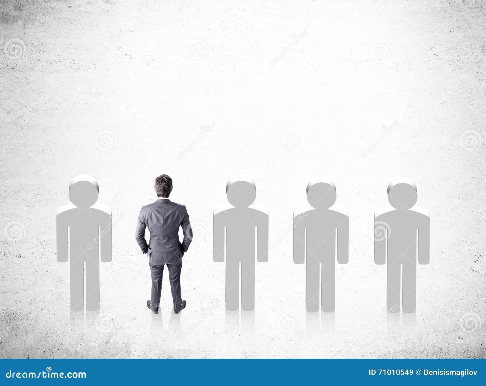 Homem de negócios do conceito do recrutamento