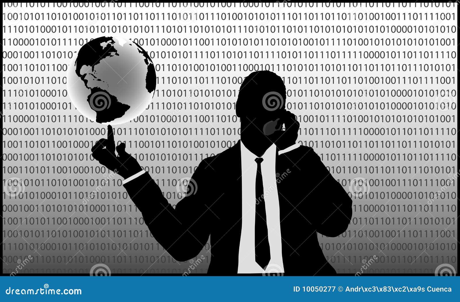 Homem de negócios do Internet