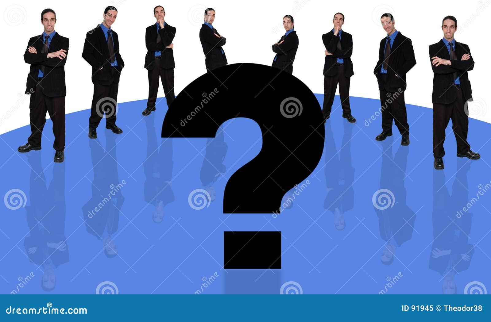 Homem de negócios e question-2