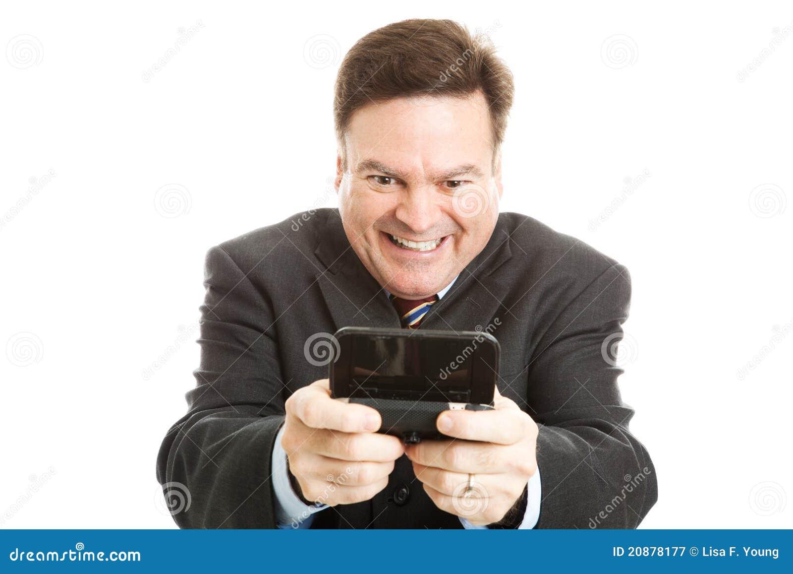Homem de negócios Horny Texting