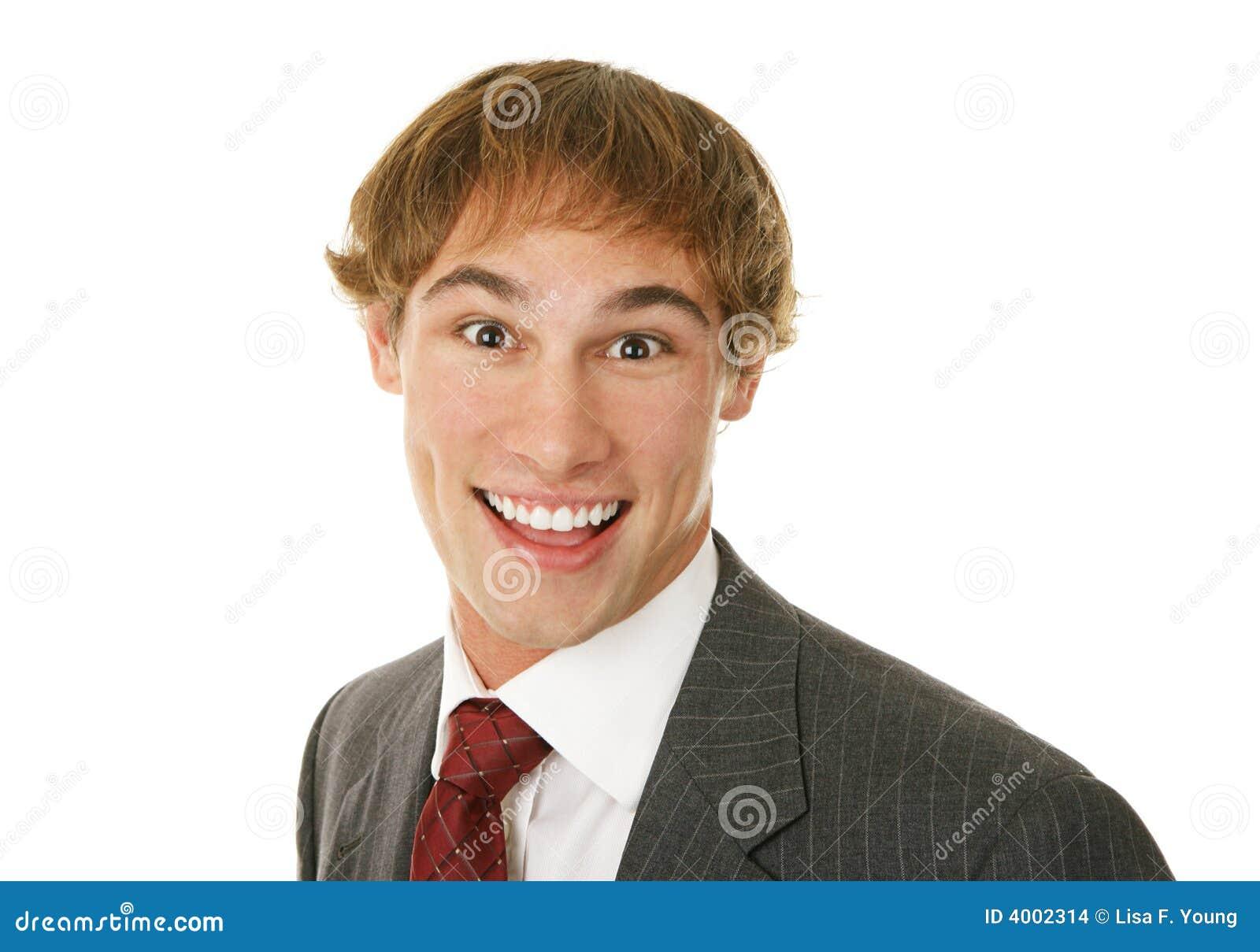 Imagens De Stock Homem De Neg Cios Novo Excitado