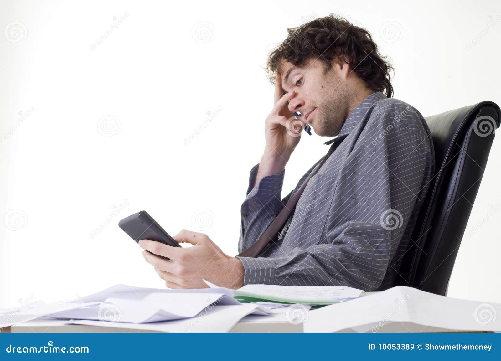 Homem de negócios Overworked