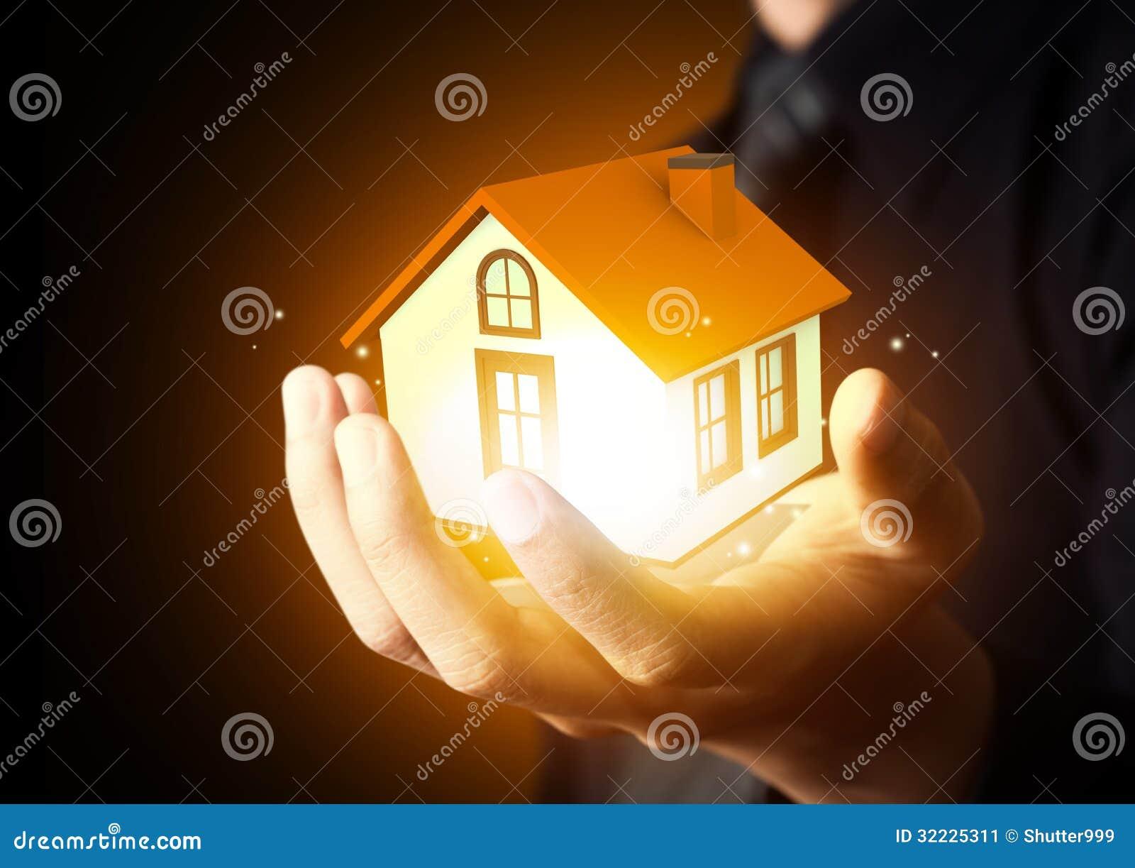 Download Homem De Negócios Que Guardara O Modelo Home Imagem de Stock - Imagem de negócio, custos: 32225311