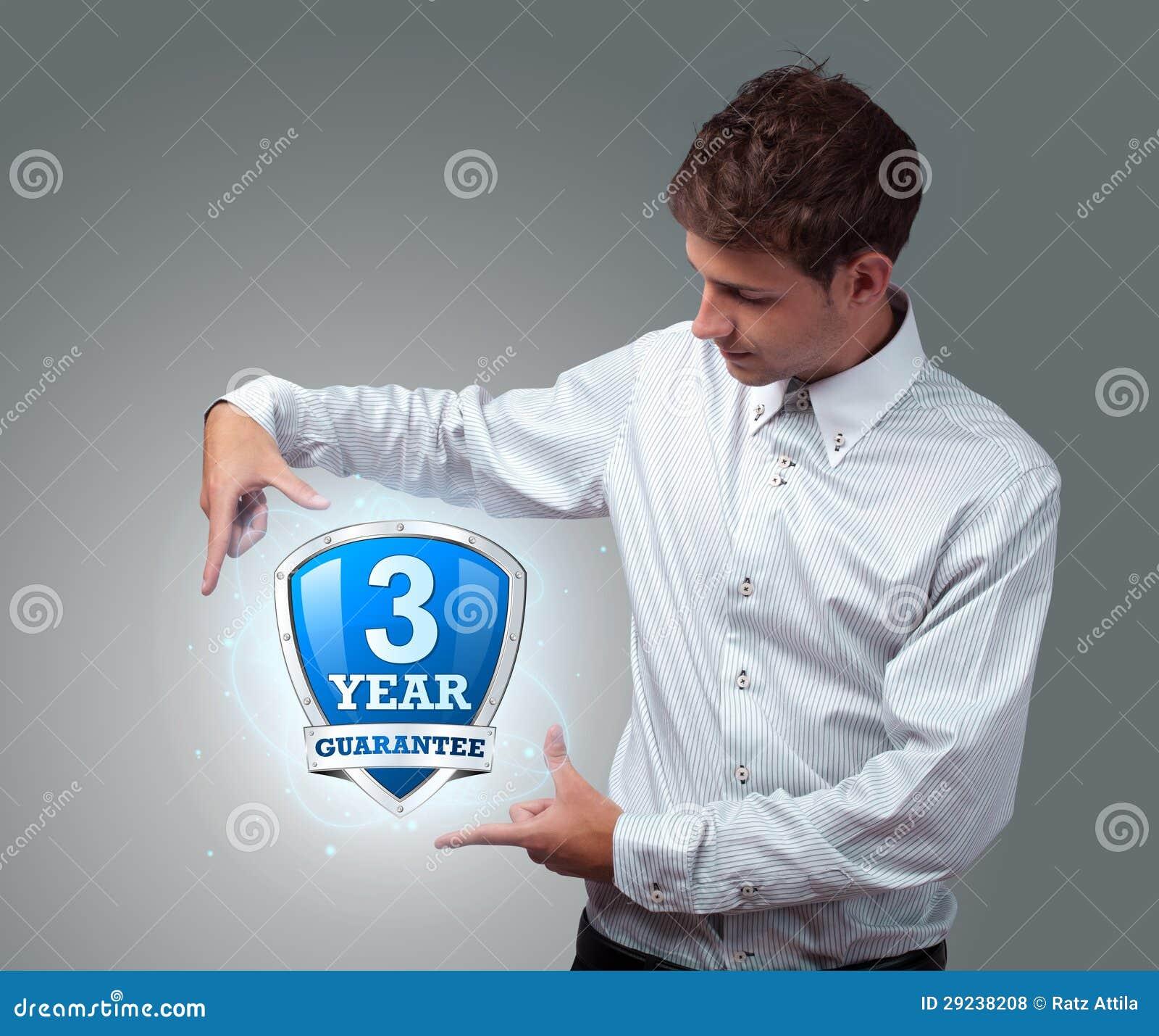 Download Homem De Negócios Que Guardara O Sinal Virtual Do Protetor Foto de Stock - Imagem de proteja, humano: 29238208