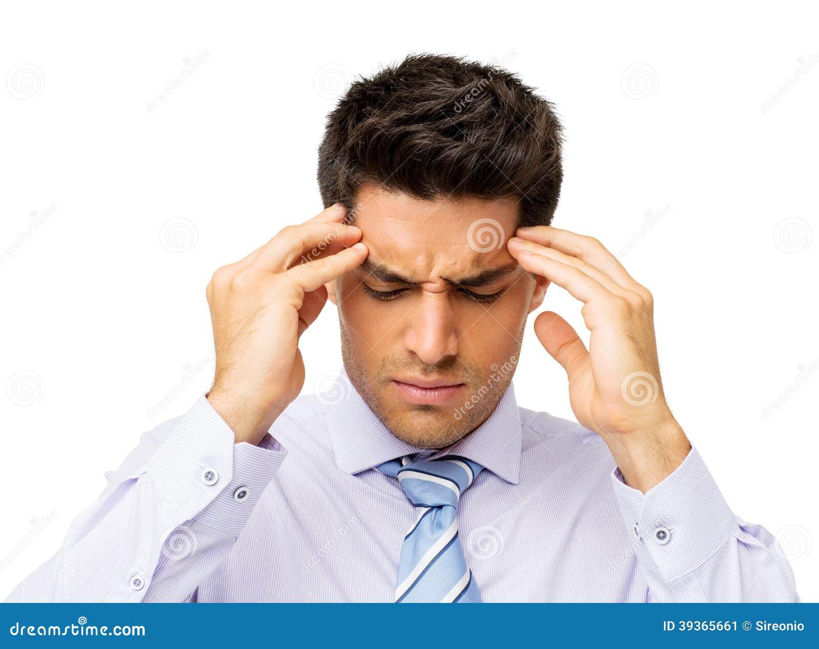Homem de negócios Suffering From Headache