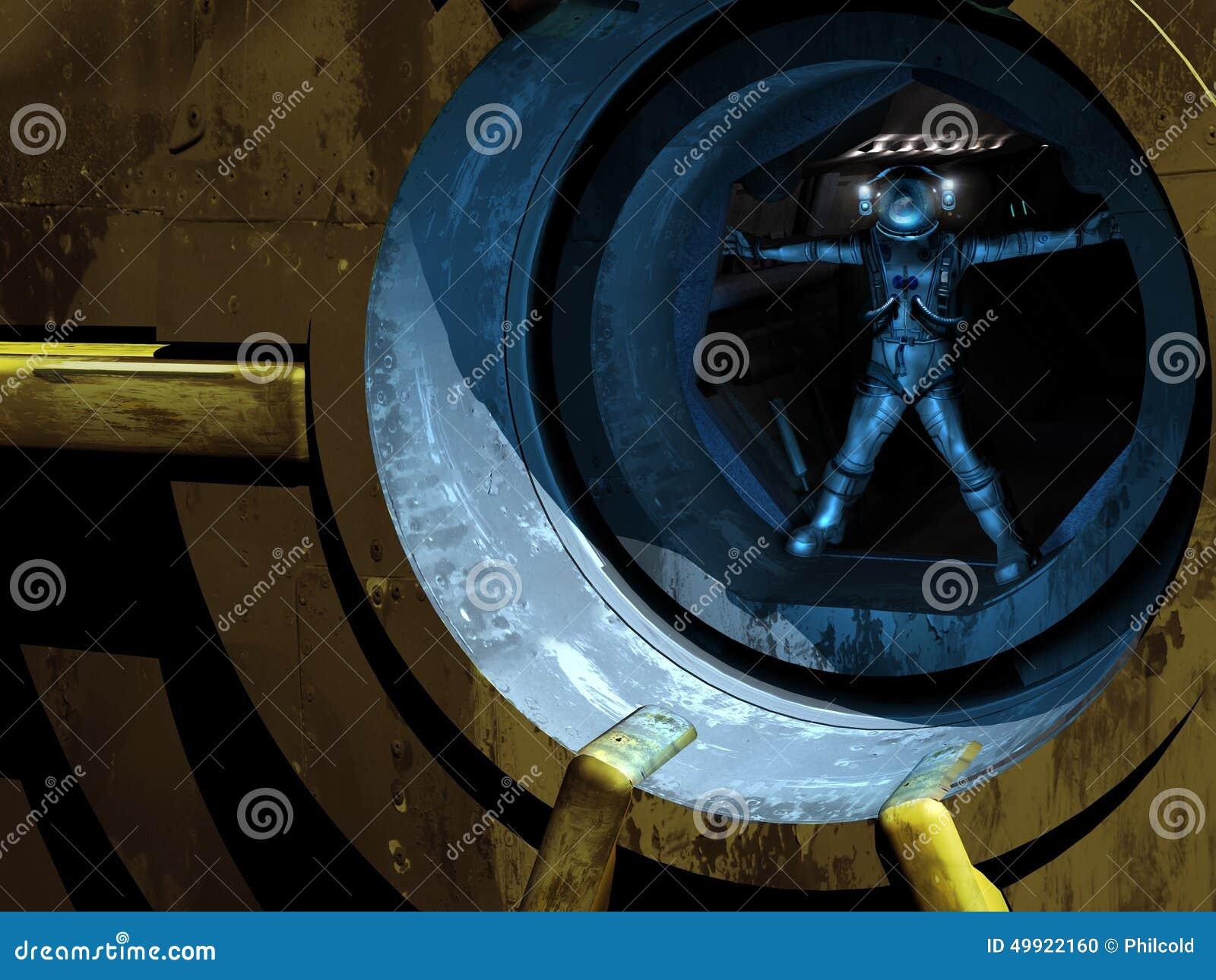 Homem de Vitruvian no espaço