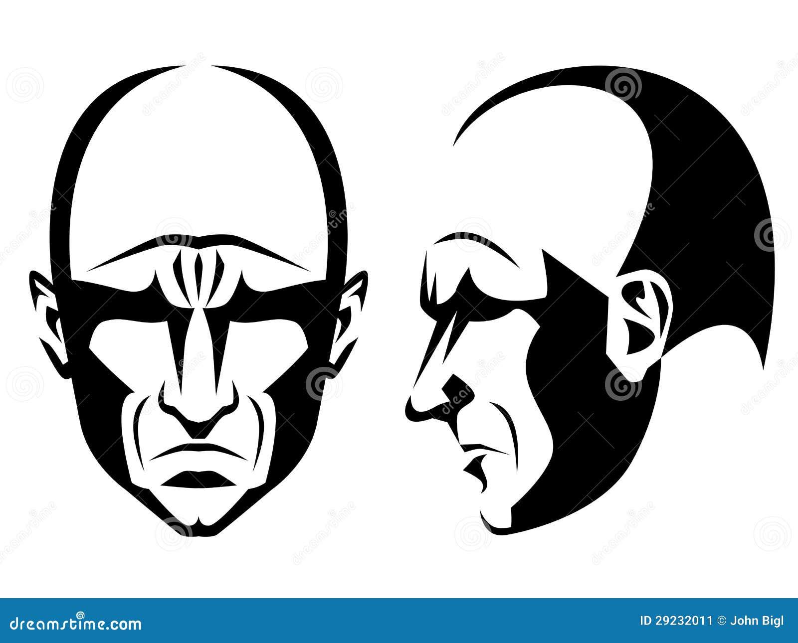 Download Homem desagradável ilustração do vetor. Ilustração de gráfico - 29232011