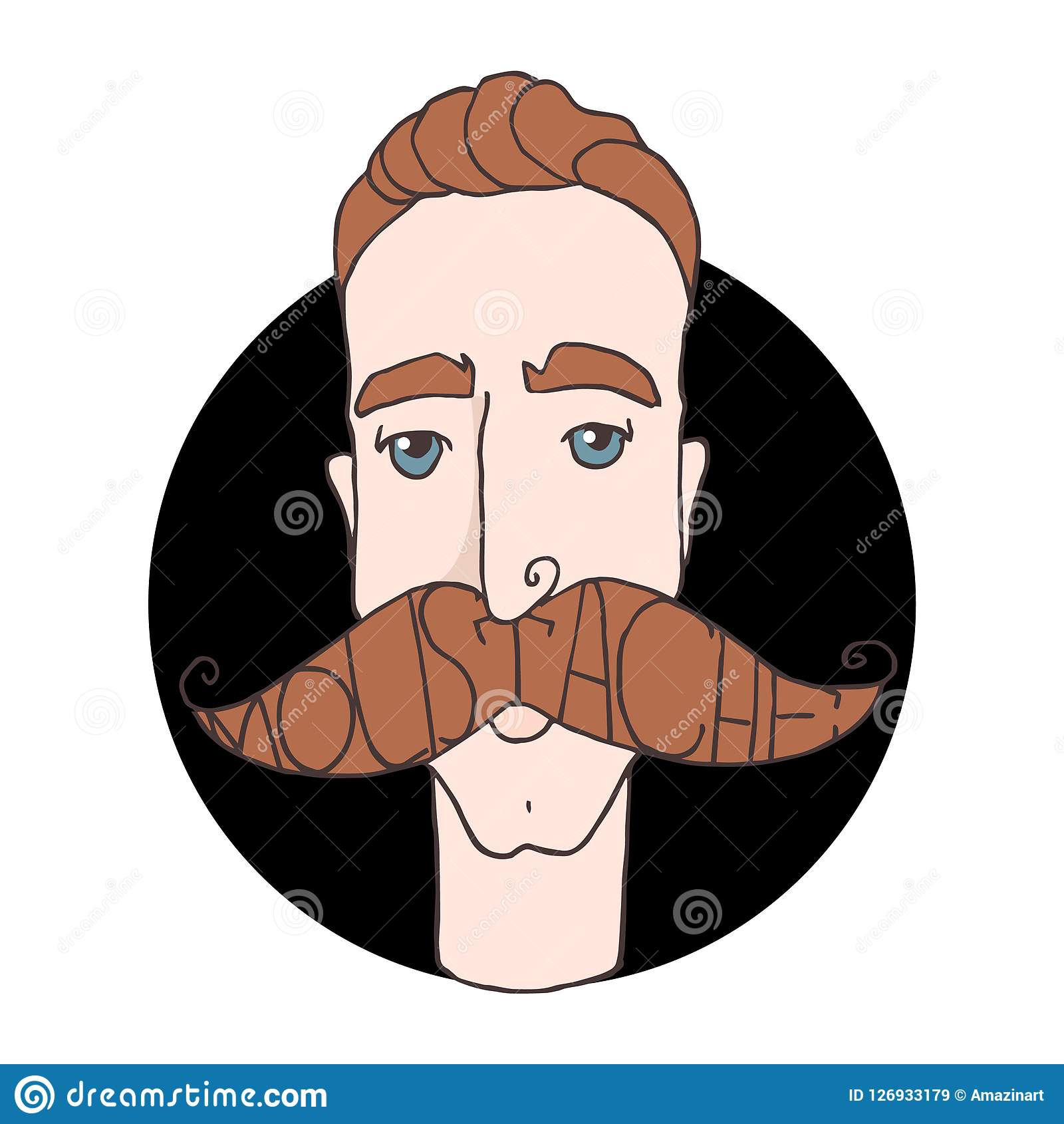 Homem Dos Desenhos Animados Do Barbeiro Do Moderno Com